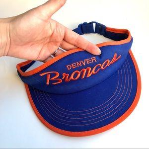 Vintage Denver Broncos Visor Hat NFL Sports